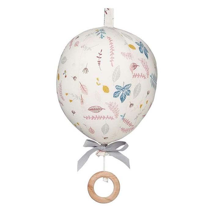 CamCam Music Mobile, Balloon w/ velcro loop OCS - Pressed Leaves Rose