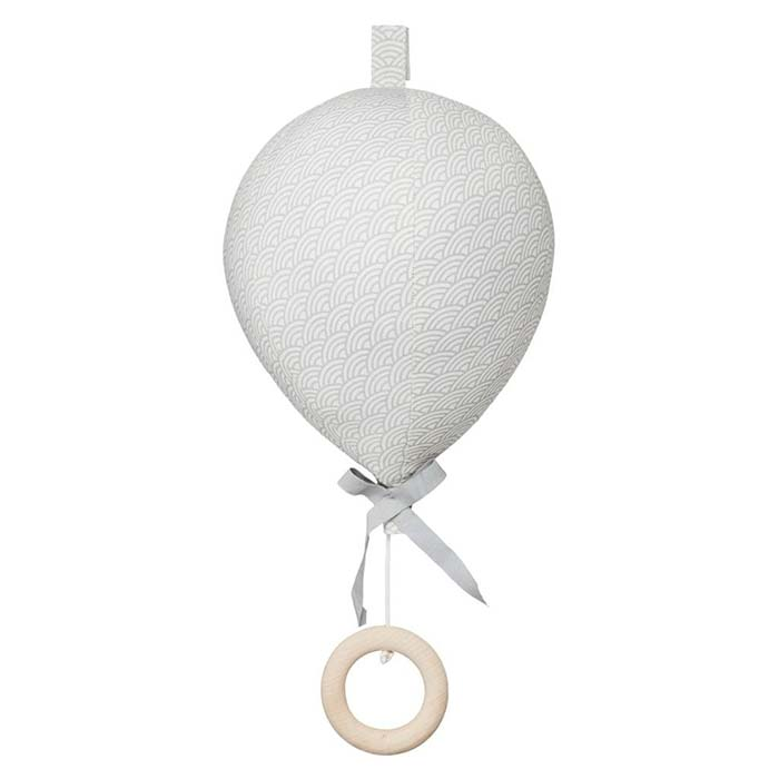 CamCam Music Mobile, Balloon w/ velcro loop OCS - Grey Wave